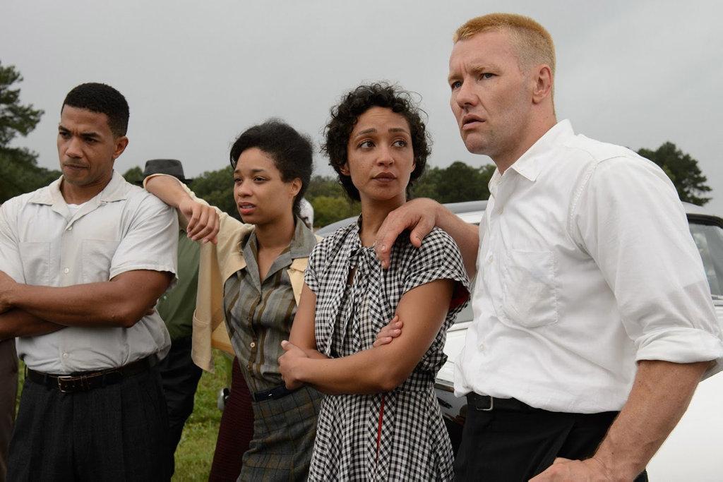 Ruth Negga and Joel Edgerton in a scene from the movie Loving.