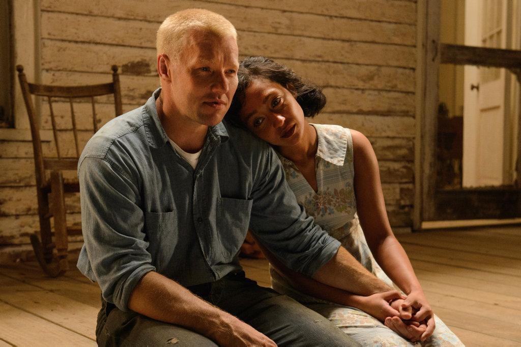 Joel Edgerton and Ruth Negga in a scene from the movie Loving.