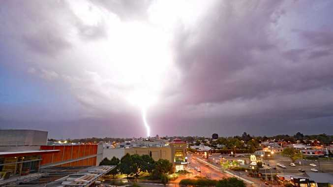 A storm approaches Grand Central in Toowoomba last week.