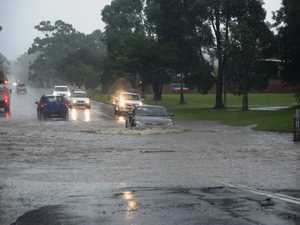 VIDEO: Floodwaters rise under 200mm falls in just 12-hours