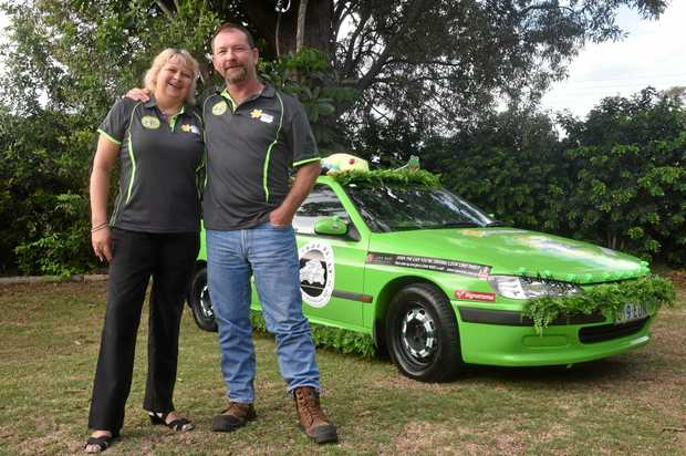 RALLY TIME: Tammy Lee and Lew King will travel almost 4000km through Australia in a 'shitbox'.