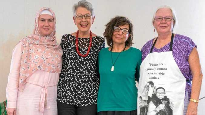 CULTURES UNITE: Dr Zuleyha Keskin, Jenny Dowel, Rashida Joseph and Lavender come together on Mariam's Day in Lismore.