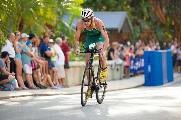Jake Birtwhistle in action at last year's Hamilton Island Triathlon.