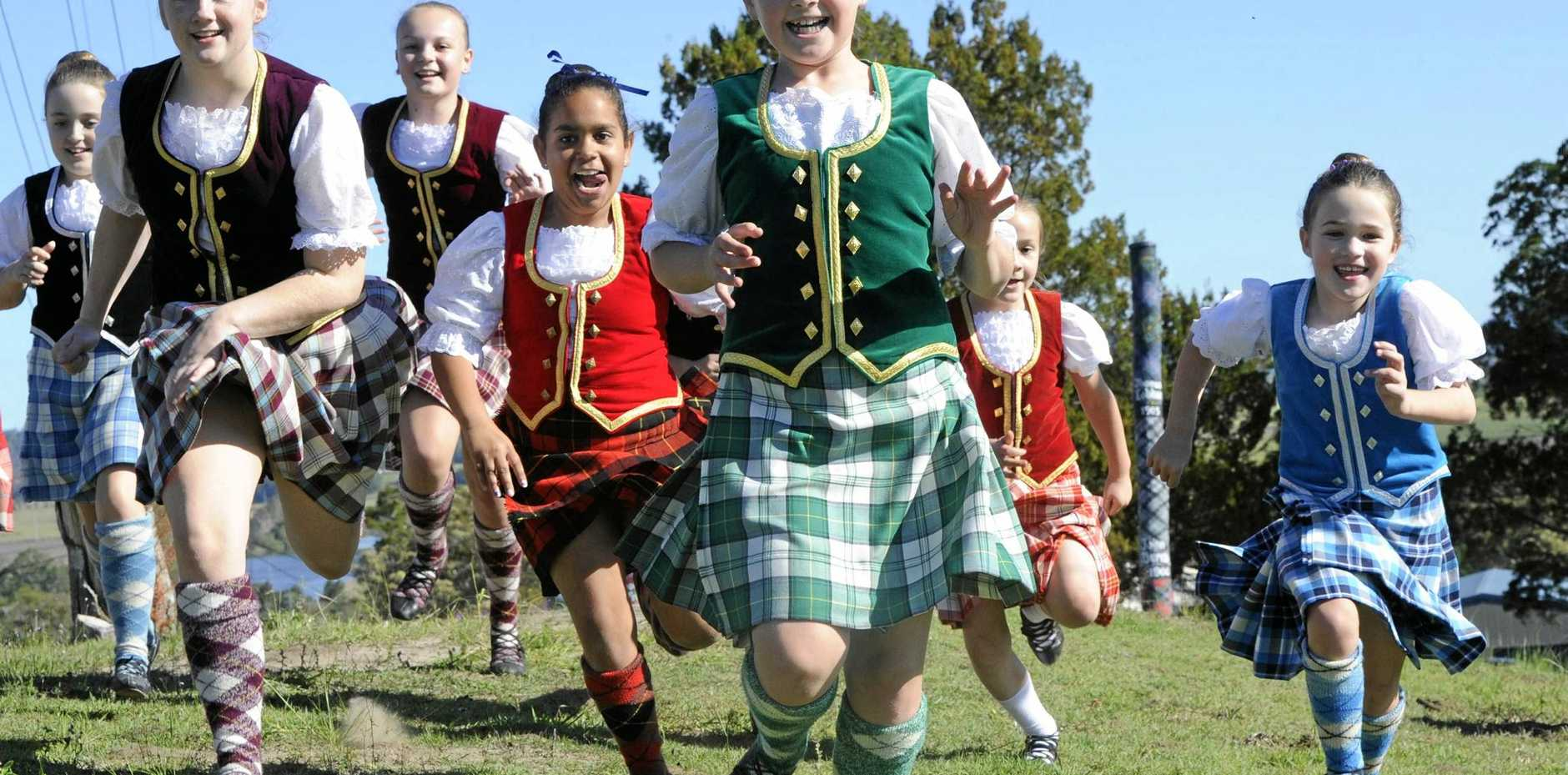 HAPPINESS: Maclean's Scottish heritage will be featured on Sunday at the Harmony Day event.