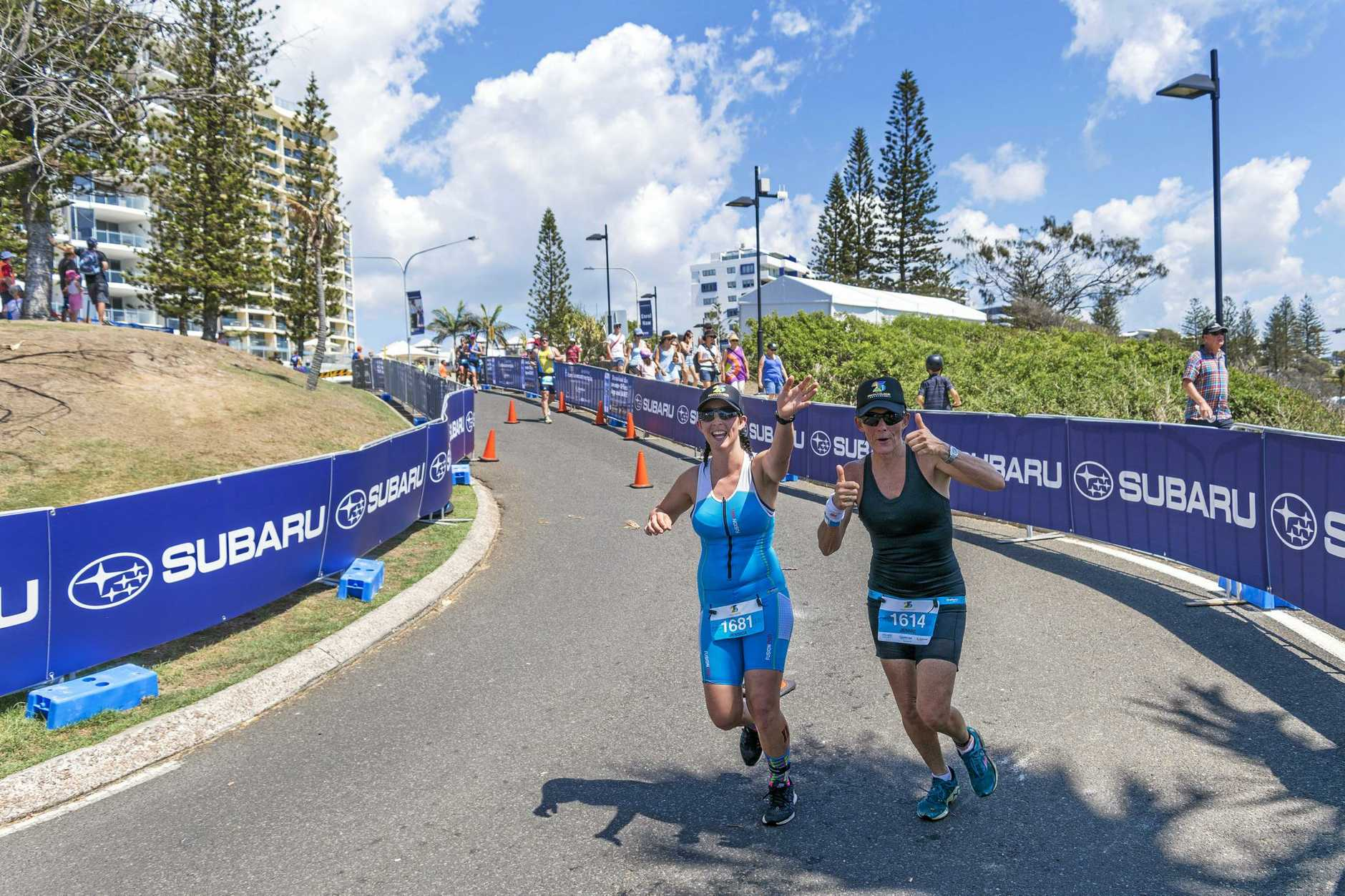BRUTAL: Jekka said she struggled through the running leg, but was spurred on by her mum Jenny.  Photo: Oliver Shearer