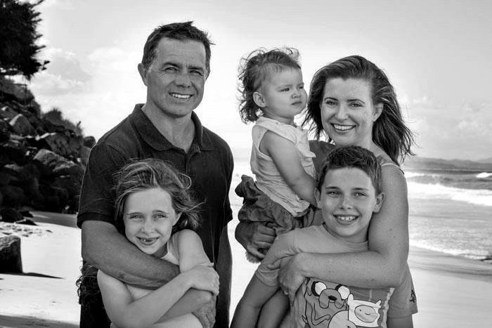 David and Toni McCaffery with their children, James, Aislingand Sarah.