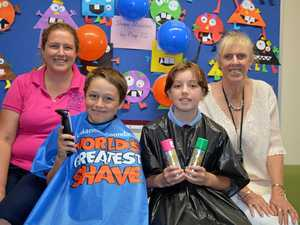 Young kids brave shave to fundraise