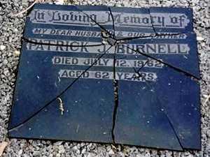 'Sick in the head' grave vandals strike again