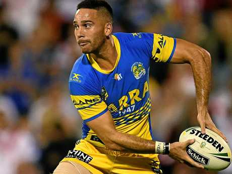 Corey Norman leads the way in attack for Parramatta.