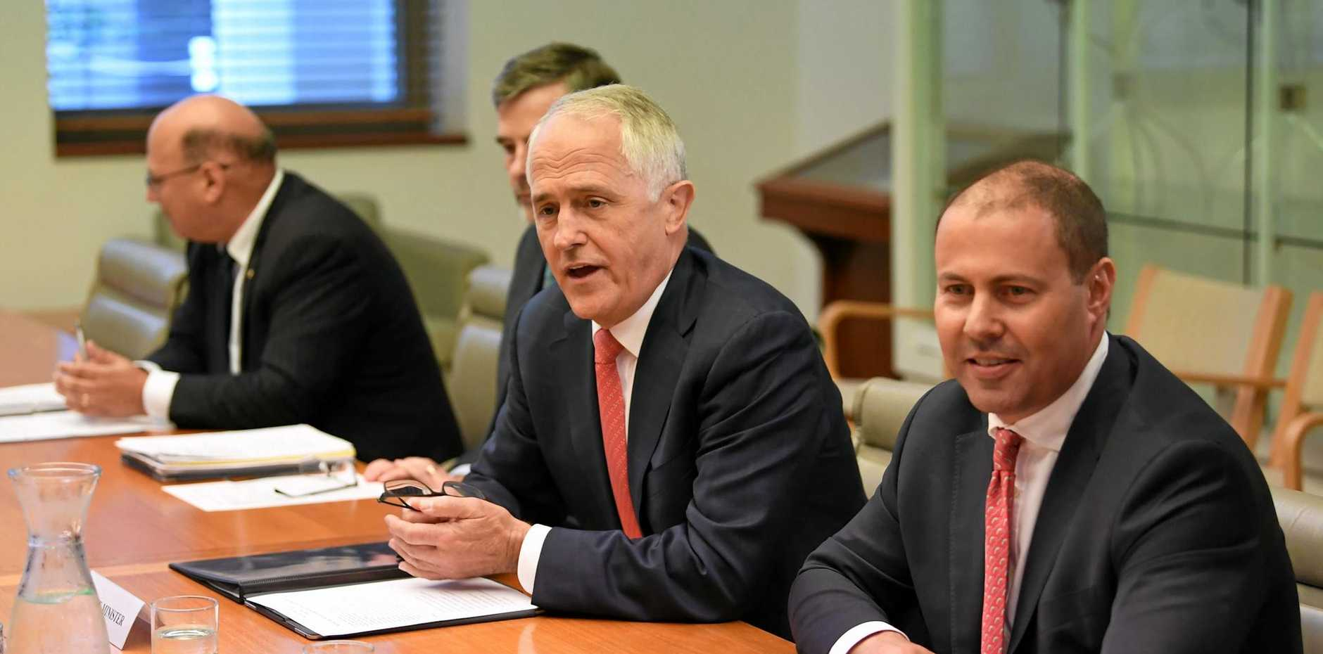 GAS GABFEST: Prime Minister Malcolm Turnbull and Energy Minister Josh Frydenberg meet  with chief executives of the biggest gas companies in Australia to discuss the future of gas supply and electricity reliability.