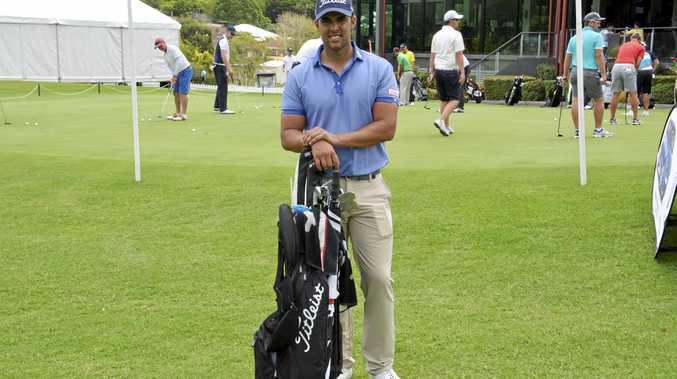 NSW professional Dimitrios Papadatos at City Golf Club today preparing for tomorrow's Coca-Cola Queensland PGA Championship opening round.