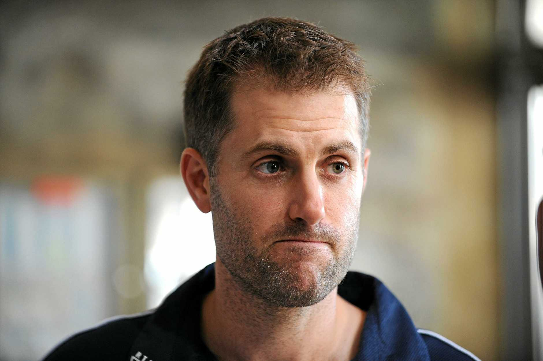 **FILE** A Tuesday, Dec. 21, 2010 file photo of NSW cricketer Simon Katich arriving at the launch of the 2010-11 KFC Twenty 20 Big Bash at the Entertainment Quarter, Sydney. Cricket Australia has reprimanded the former Test opener Katich on Monday, Dec. 5, 2011, for his comments about captain Michael Clarke though is free to play for NSW. (AAP Image/Dan Himbrechts) NO ARCHIVING