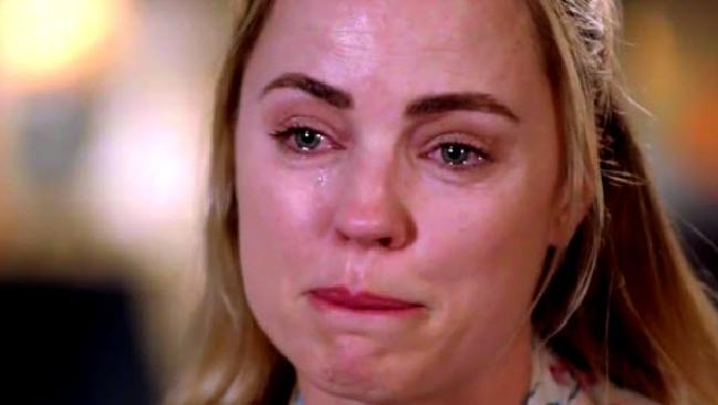 Melissa George breaks down in her Sunday Night interview.