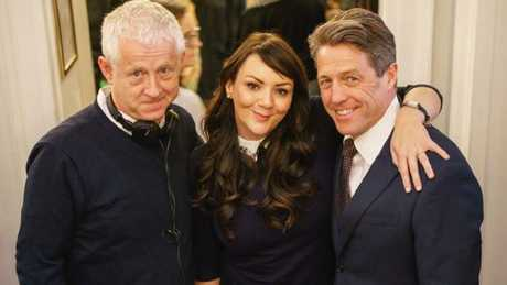 Everyone's pretty thrilled Natalie and David are still together (pictured here with director Richard Curtis).