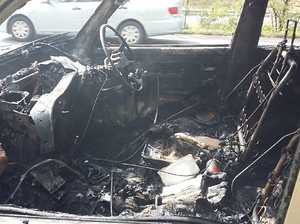 PHOTOS: Mum of six's plea after car bursts into flames