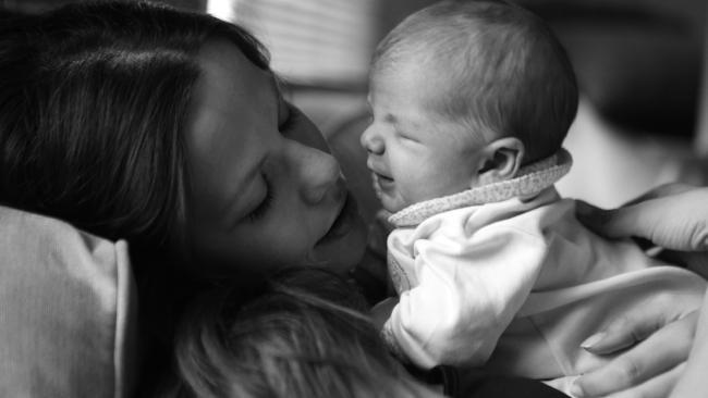 Tammin Sursok with her newborn daughter. Picture: Tammin SursokSource:Supplied