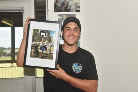 Joe with his framed photo.