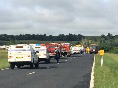 The Bruxner Highway is closed in both directions following a serious crash at South Gundurimba this morning.