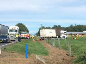 Multi-vehicle crash at Ulmarra