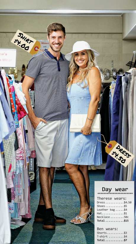 Ben Wilmott and Therese Jones model clothing from the St Pauls Variety Store.