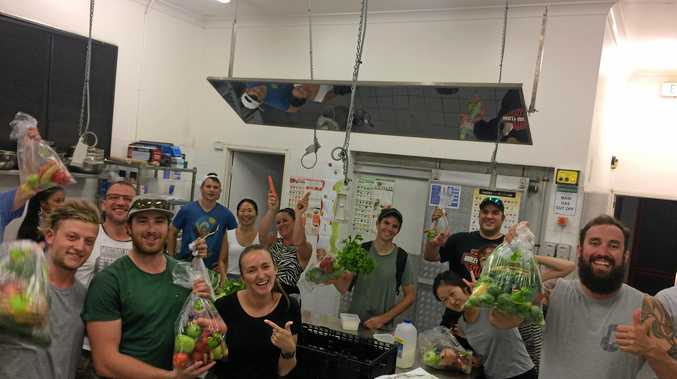 HEALTHY HAMO: The Happy and Healthy Living course got Hamo Island workers in the kitchen.