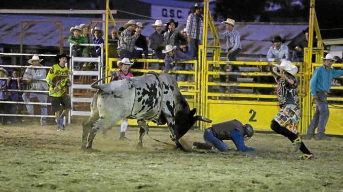 A rodeo will close the 2017 Murgon show, picture from the 2015 Goomeri Rodeo.