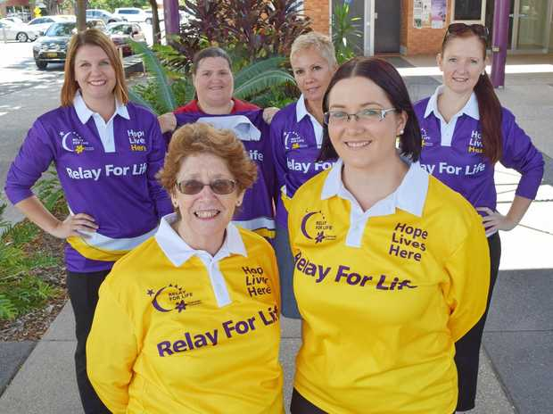 GET INVOLVED: Kara Paradies, Vanessa Dawson, Fran Rofe, Nicole Rickards, Val Sypher and Lisa Conway are painting the town purple for Relay for Life.