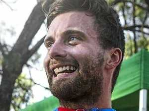 Local mountain bike rider Josh Button is all smiles after winning the 2017 Oceania Continental MTB Championships held in Toowoomba.