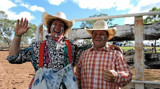 Trevor Mourer and Bryce Coben at the Glenden Rodeo in 2015. The event has been cancelled for 2017.
