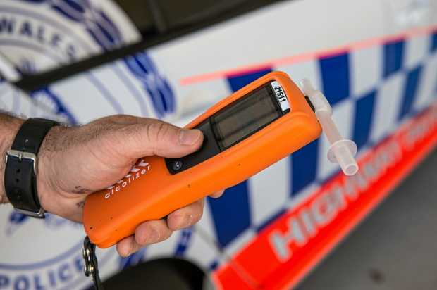 A breath testing unit.