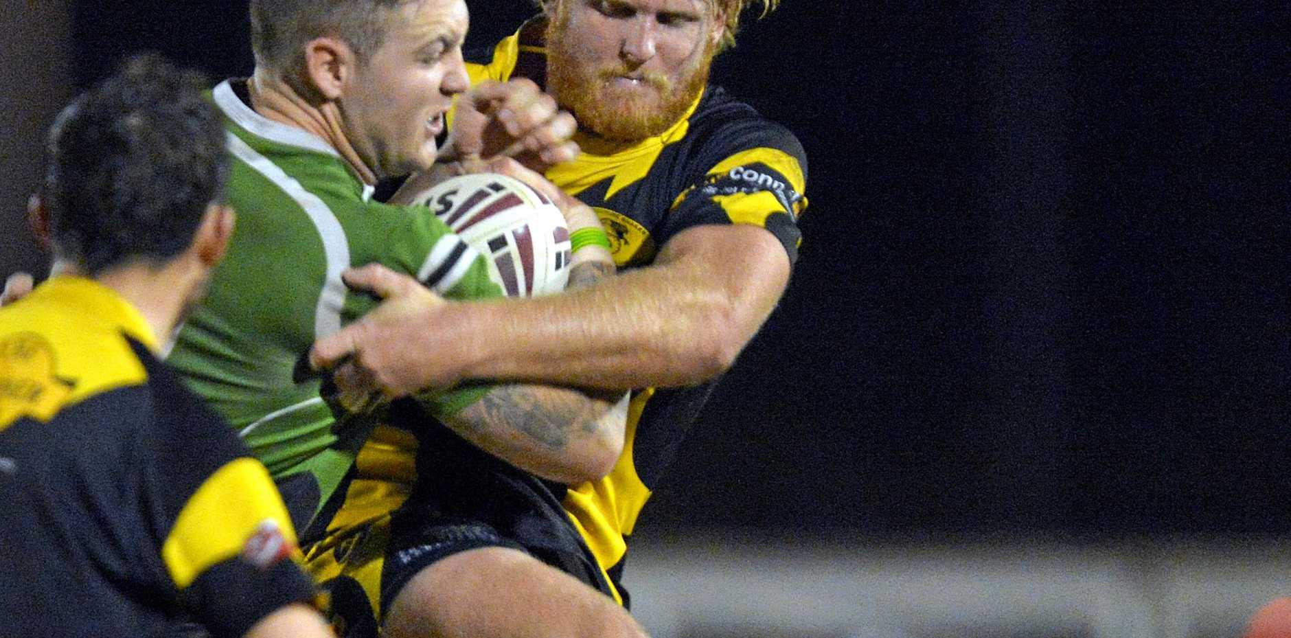 KEY MAN: Matt Cornish in action a couple of years ago. He's returned to the Snakes for 2017.