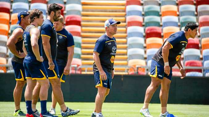 Coach Paul Green overseeing a North Queensland Cowboys  training session in Townsville