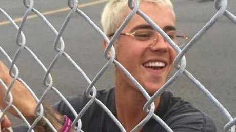 Justin Bieber meets with fans at the Sunshine Coast Airport.