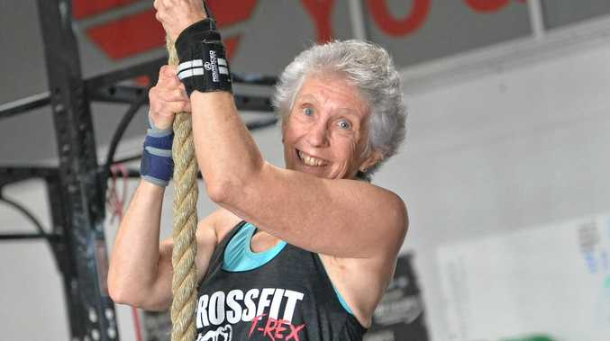 At 66 years old Laurel Hill is ranked 21st in her age category in the Open CrossFit Games.