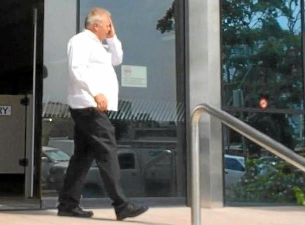 ACCUSED: Geoffrey Allan Dart, 45, from Weranga, leaves Maroochydore Magistrates Court today.
