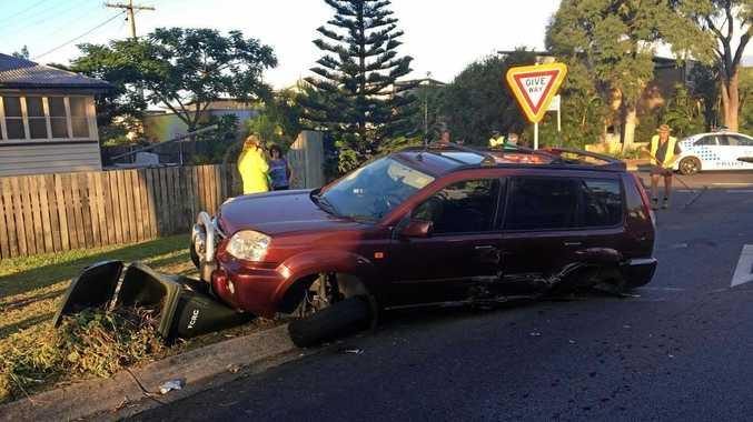 Two-vehicle crash at the corner of Pulgul and Moolyyir St, Urangan.
