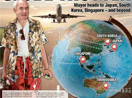 Mayor Paul Antonio will visit Japan and Korea and likely Singapore. The councillor is widely tipped to take part in a TSBE overseas trip this year. (Image digitally altered)