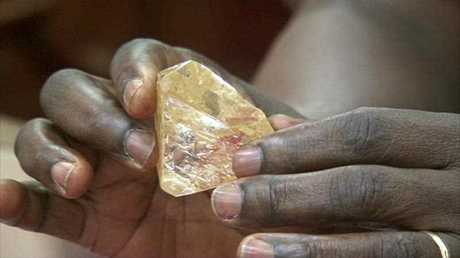 It's the largest uncut diamond found in more than four decades. Picture: SLBC via AP