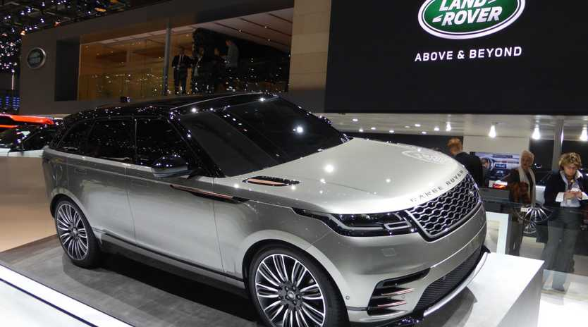 FUTURE FAVOURITE: Range Rover's new Velar SUV made its first appearance in the metal at the 2017 Geneva Motor Show
