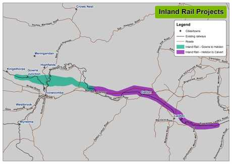 FAST-TRACKED: The two sections of the ARTC route that were declared