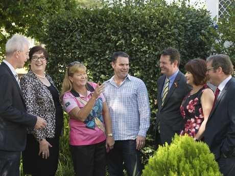 At the funding announcement are (from left) John Minz, Simone Finch, Kim Soppa, Craig Watson, Shane Charles, Wendy Agar and John McVeigh. $5.5 million will support drug and alcohol treatment services across the Darling Downs as part of the National Ice Action Strategy, Friday, March 17, 2017.