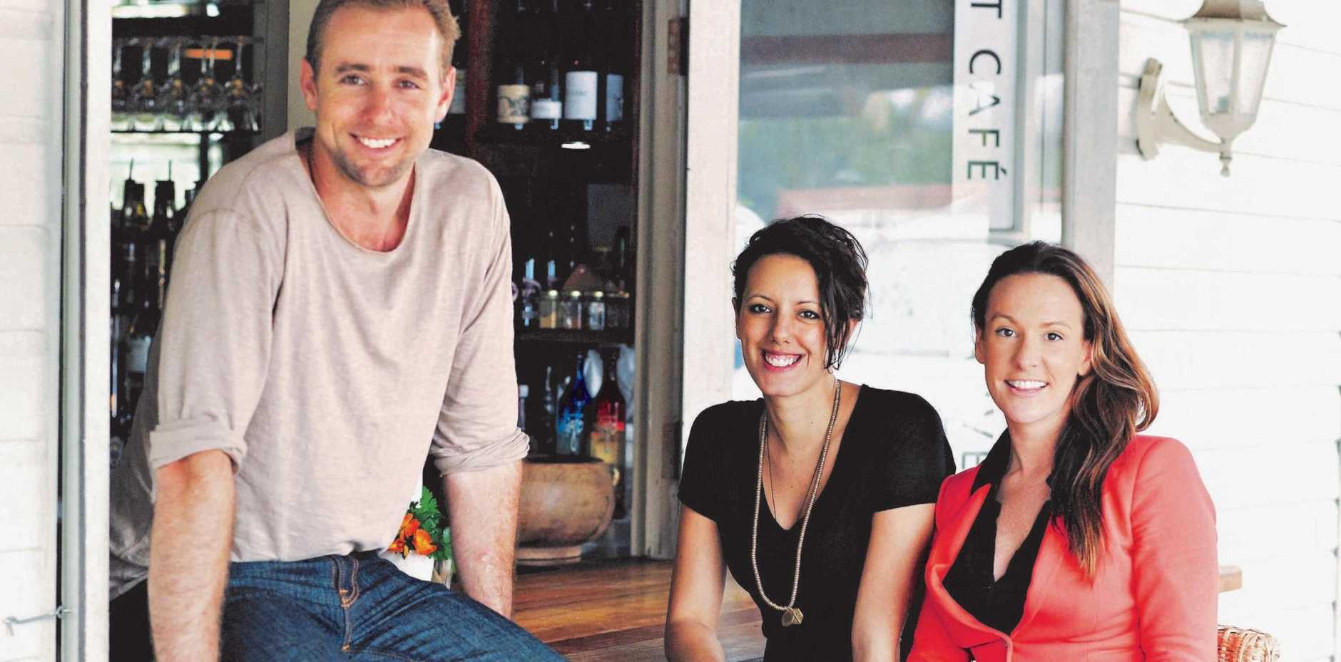 ABOVE: Harvest co-owners Tristan Grier, Cassia Grier and Brooke Hudson, are celebrating a decade since starting their business venture.