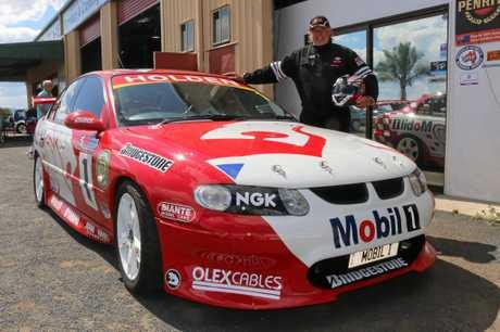 SUPERCAR: Lockyer Valley farmer Tim Linnan will race his 2001 Holden Commodore Skaife/Longhurst Bathurst replica this weekend.