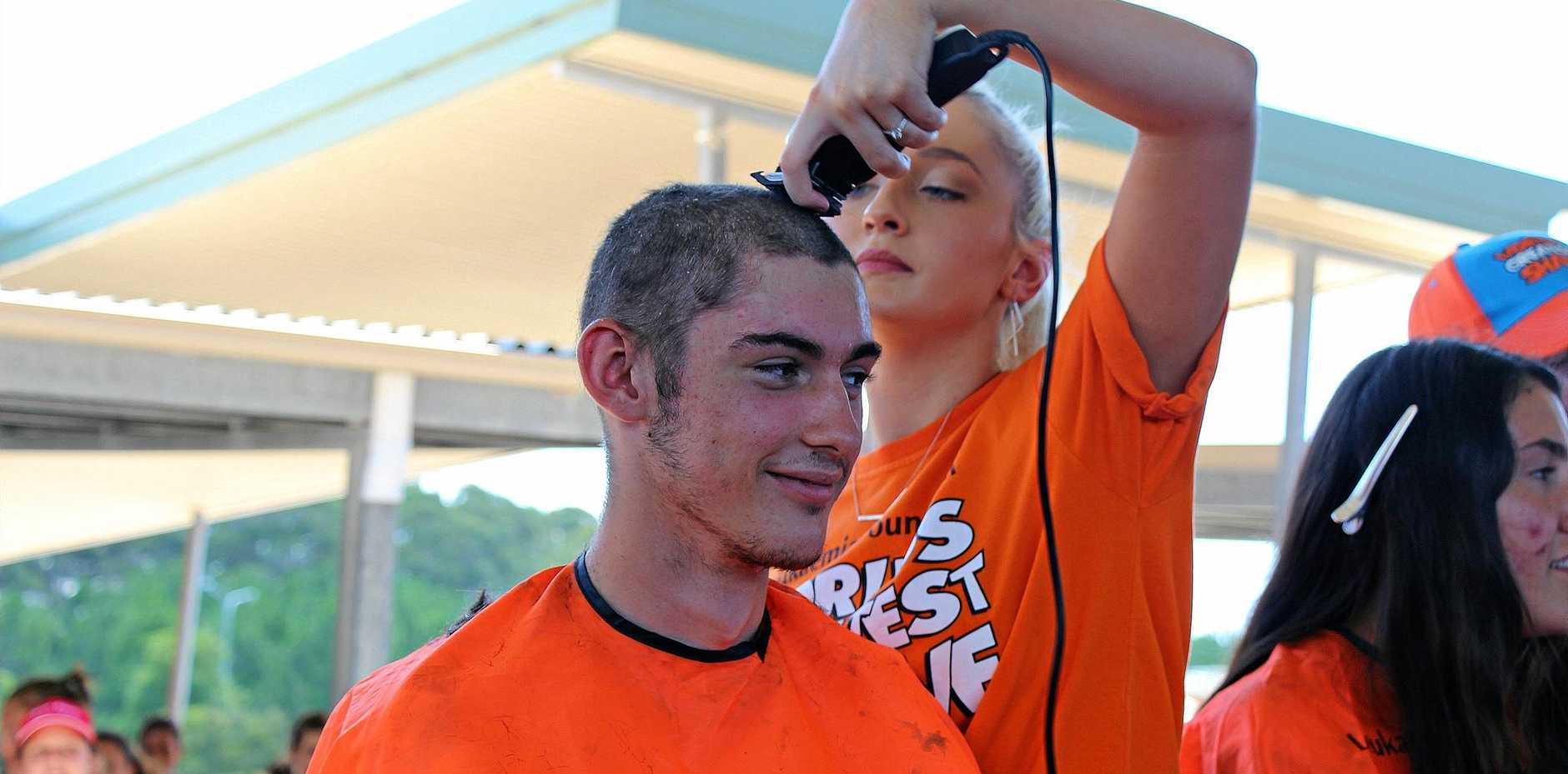 SHAVE FOR SOLIDARITY: 17-year-old Jayden Holmes is shaving in support of his best friend.