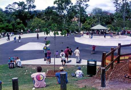 Nambour District Skate Park, Petrie Park, Petrie Park Road, Nambour, ca 1997The skate park was constructed during 1996 - 1997 and officially opened in February 1997.