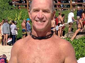 SURF LIFESAVING: Silver plated Pete conquers swell