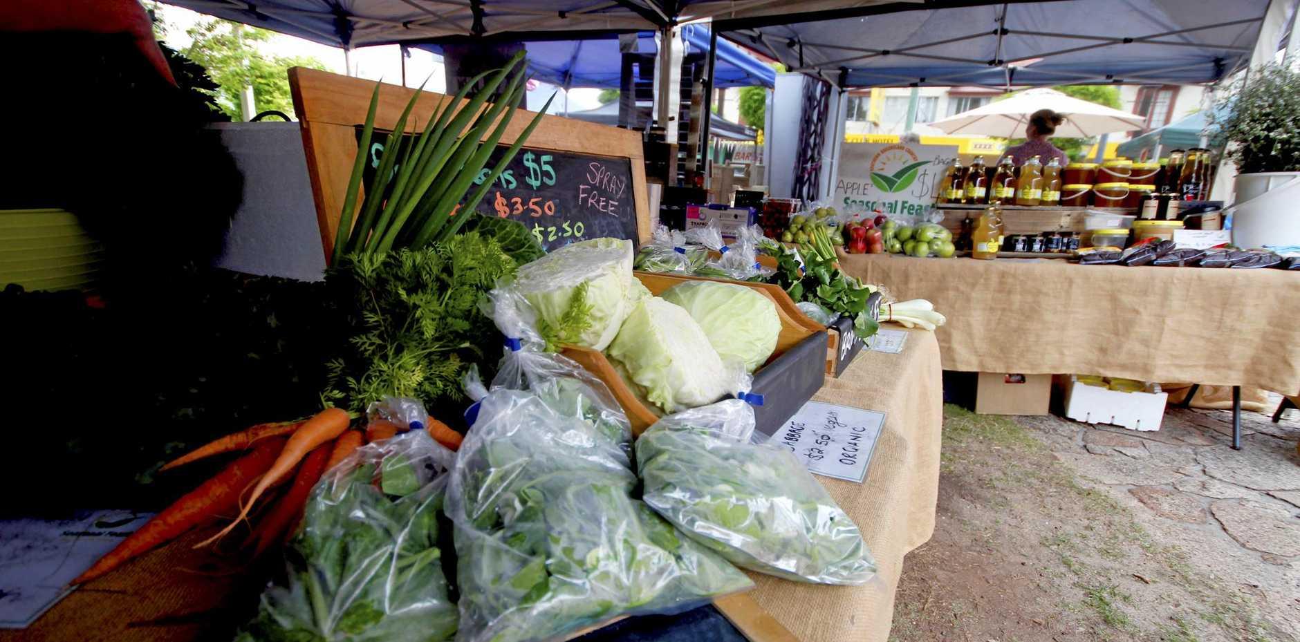 Fresh produce at the Seasonal Feast markets.