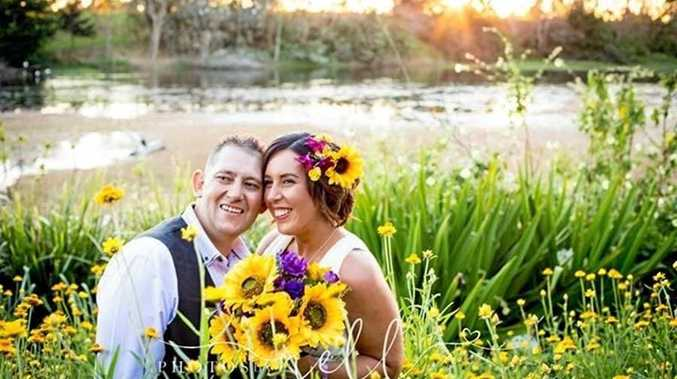 LOVED UP: Newlyweds Teneale and Paul English were married in August last year.