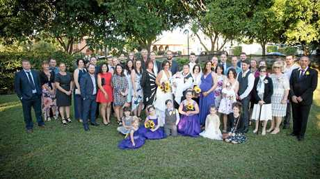 WEDDING FUN: The couple invited 50 guests to share their special day with them at the Mackay Region Botanical Gardens