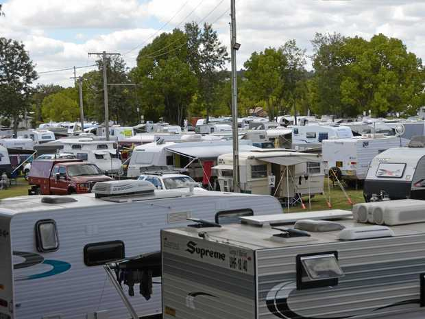 About 100 caravans descended on Kingaroy for the Australian Caravan's Club chairmans muster.